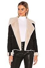 Tularosa Griffin Coat in Black & Beige