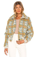Tularosa Skyler Jacket in Citron Multi Plaid