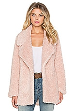 Tularosa Violet Faux Fur Coat in Powder Pink