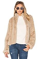Tularosa Inori Faux Fur Jacket in Beige