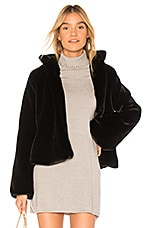 Tularosa Inori Faux Fur Jacket in Black