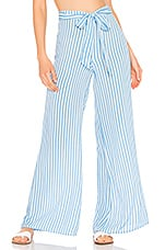 Tularosa Lillian Pant in White & Blue Stripe