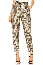 Tularosa Cara Sequin Pant in Natural Sequin