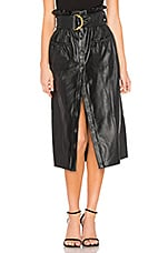 Tularosa Jenna Faux Leather Skirt in Black