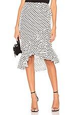 Tularosa Veronica Skirt in White & Black Dot