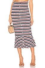 Tularosa Quinn Skirt in Black Multi Stripe