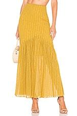 Tularosa Cameron Skirt in Pear Yellow