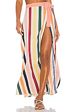Tularosa Sweet Pea Skirt in Rainbow Stripe