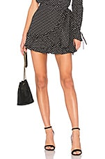 Tularosa Maida Ruffle Skirt in Black Polka Dot