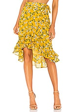 Tularosa Veronica Skirt in Yellow Dolly Floral