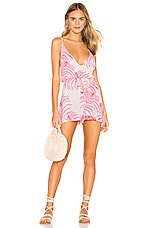 Tularosa Fairytale Romper in Pink Palm Print