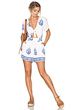 Tularosa x REVOLVE Rowley Romper in Blue Medallion