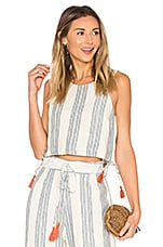 Tularosa Marley Crop Top in Chambray Stripe
