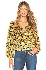 Tularosa Mia Top in Marigold Blossom