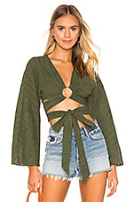 Tularosa Molly Blouse in Moss Green