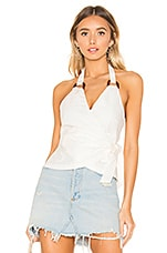 Tularosa Blair Halter Top in White