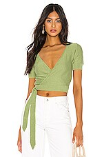 Tularosa Danny Wrap Sweater in Green