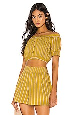 Tularosa Margo Top in Mustard Yellow