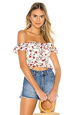 Tularosa Lily Top in Red Dolly Floral
