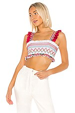 Tularosa Vivien Top in White Multi