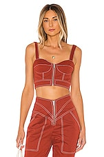 Tularosa The Lovelle Top in Brick Red
