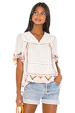 Tularosa Ingrid Embroidered Top in White