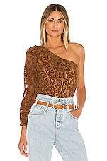 Tularosa Arden Bodysuit in Carmel Brown