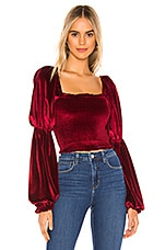 Tularosa Trinity Smocked Top in Red