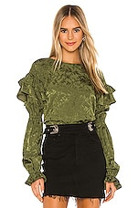 Tularosa Eloise Top in Olive Green
