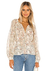 Tularosa Eliza Top in Cream Jasmine Floral