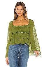 Tularosa Lucy Top in Moss Green