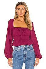 Tularosa Luca Top in Magenta