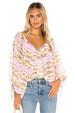 Tularosa Nola Top in Orchid Multi Tie Dye