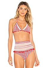 Tularosa Nina Top in Red Stripe