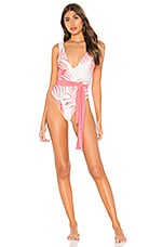 Tularosa Claudia One Piece in Pink Palm Print