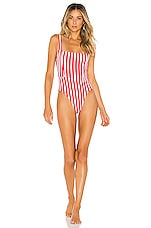Tularosa Karmen One Piece in Red Stripe