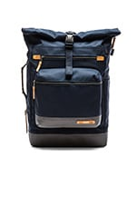 Dalston Ridley Roll Top Backpack in Navy