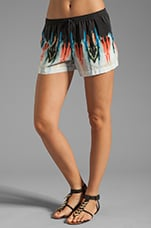 Palma Drawstring Shorts in Watercolor Border