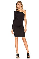 One Shoulder Bodycon Dress en Noir