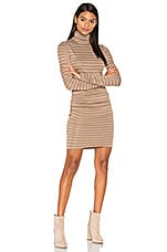 Luxe Turtleneck Dress in Heather Rye