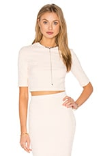 Honeycomb Stretch Crop Top in Blush