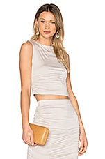 Superior Cropped Tank in Taupe