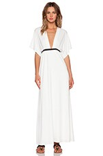 Belted Kimono Maxi Dress in Cream