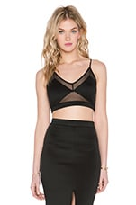 Twin Sister Mesh Insert Bralet in Black