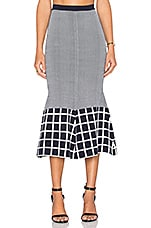 TY-LR The Vantage Knit Skirt White & Indigo