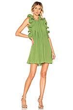 AMUR Mimi Short Dress in Grass Green