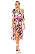 AMUR Jaylah Dress in Neutral Pink Rust
