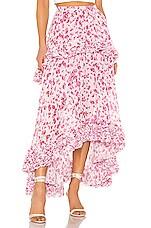 AMUR Nita Skirt in Frozen Rose Pressed Floral