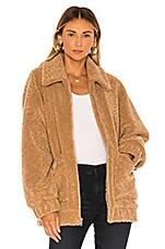 UGG Jackeline Teddy Bear Jacket in Camel
