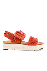 UGG Fluff Sandal in Red Rock